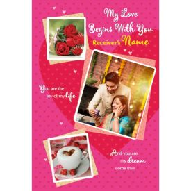 Baby I Love You Personalised Card