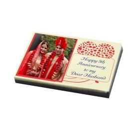 Photo on Chocolate bar - Gift for Anniversary
