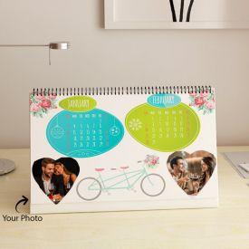 Romantic Personalized Desktop Calendar