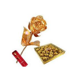 Golden Rose with Ferrero Rocher
