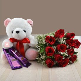 Teddy Bear, Chocolate N Roses