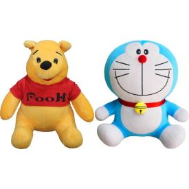 Pooh with Doraemon