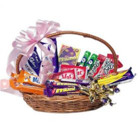 Mixed Chocolates in Basket