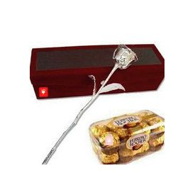 Ferrero Rocher with Silver Rose