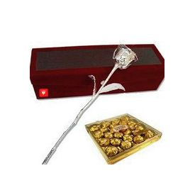 Silver Rose with Ferrero Rocher