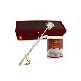 Silver Rose with Rasgulla