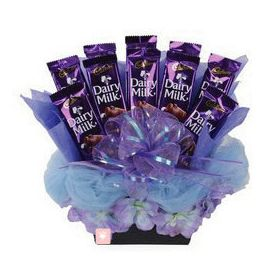 Basket of Cadbury Dairy Milk