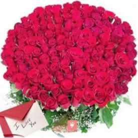Basket of 500 Red Roses