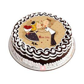 Kiss Day Photo Cake