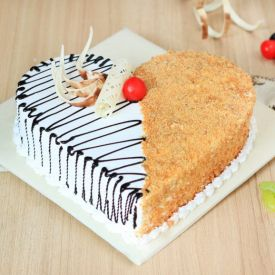 Butterscotch Heart Shape Cake