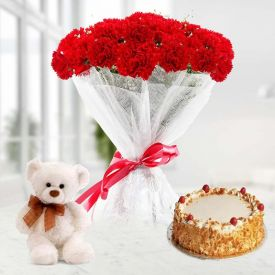 Carnation N Butterscotch with Teddy