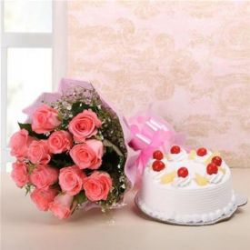 Sweet treat with flower