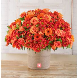 Orange Sprays Gerberas and Roses