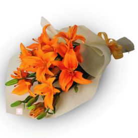 10 orange lilies