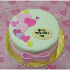 Teacher's Day Fondant cake