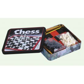 Tin chess set