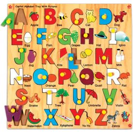 Skillofun Capital Alphabet Tray with Picture