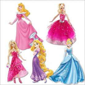 Barbie Doll, cinderella cutouts for decoration