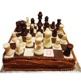 Chess design Chocolate Cake