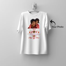 Personalize A Round Neck White T-Shirt With Your Picture This Bh