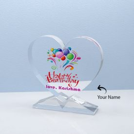 Personalized Heart Shaped Crystal For Birthday