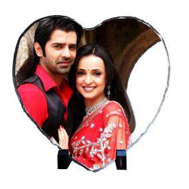 Lovely Couple Heart Stone Tile