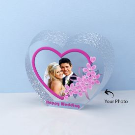 Wedding Anniversary Special Heart Shaped Crystal