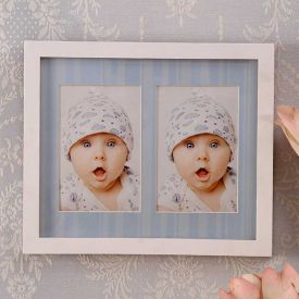 2 In 1 Blue Collage Frame : Personalized Collage Frames