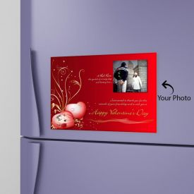 Valentines Day Personalized Photo Magnet