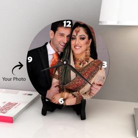 Lovely Couple Personalized Wooden Clock