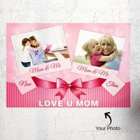 Pink Personalized Poster For Mom