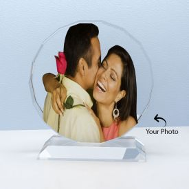 Round Shape Crystal Personalized With Photo