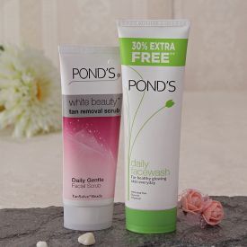 Ponds Face Wash And Tan Removal Scrub Combo