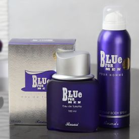Blue Gift Set For Men