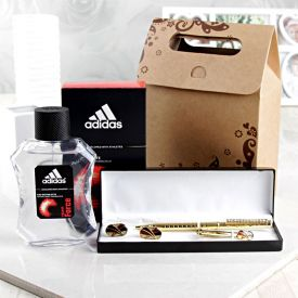 Adidas EDT Spray With Pen And Cufflinks