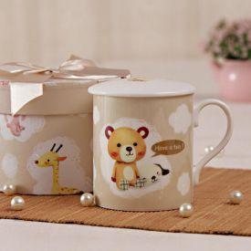 Teddy Printed Mug With Cover