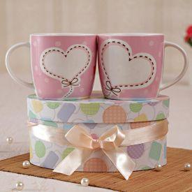 Baby Pink Mugs Set