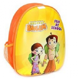 Chhota Bheem Backpack 15 Inches - Yellow And Orange