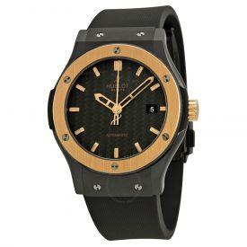 Golden black dial men watch