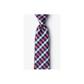 Colorful Checkered Patterned Tie