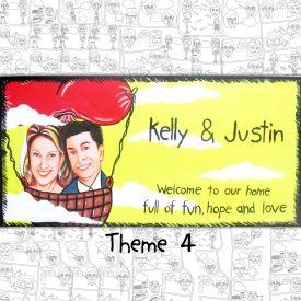 Caricature Nameplate Theme 4