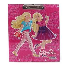 Barbie Writing Pad Sparkle Girls Print - Pink