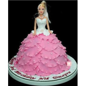 Cake Barbie Doll