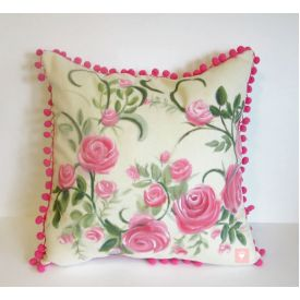 Valentine pillow covers painted,