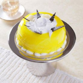 Half Kg Dome Shaped Pineapple Cake