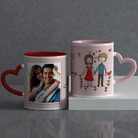 Lovely couple Personalized Anniversary Mug set