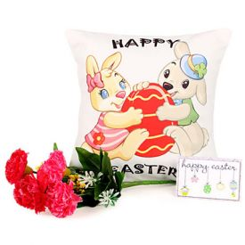 Easter Cushion with Carnation