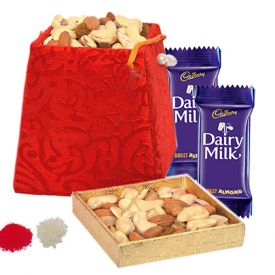 2 small Dairy milk chocolates and 200gms of mixed Dry Fruits