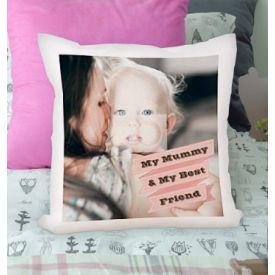 Personalised Cushion - Photo Upload Pink Banner