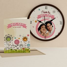 Lovely Mom clock with card